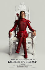 HUNGER GAMES MOCKINGJAY PART 2 MOVIE POSTER 2 Sided ORIGINAL KATNISS RED 27x40