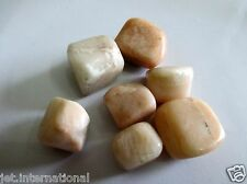 Moonstone Lovely Tumbled Stone 100 gm Healing Positive Energy Reiki Pouch Aura