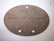 100% ORGINAL GERMAN BATTLEFIELD RELIC ID. DOG TAG,RAD-WW2