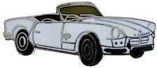 Triumph Spitfire MkI/II car cut out lapel pin - White