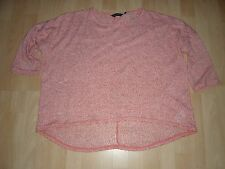 LADIES NEW CORAL COLOURED JUMPER BY NEW LOOK. SIZE 18