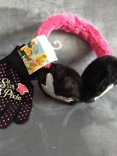 DISNEY STAR PIXIE GIRLS WINTER EAR MUFF/GLOVE SET - NEW WITH TAGS