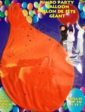 12 Giant 48 Inch or BIGGER Speckle Print Orange & Red Balloons FREE SHIPPING
