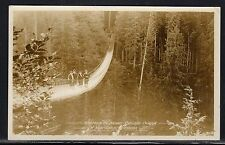 Canada Real Photo Suspension Bridge Capilano Canyon Vancouver BC Used 1926 a436