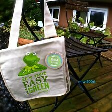 KERMIT THE FROG 'It's not EASY being GREEN' Canvas Carry-all THE MUPPETS Disney