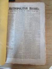 Civil War in Metropolitan Record New York 51 numbers Domestic & Europe news 1862