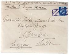 WW 2 Ferramonti Italy Concentration Camp Cover Swiss Red Cross Andreas Bruhagice