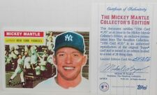 1995 HAMILTON COLLECTION MICKEY MANTLE YANKEES 1956 TOPPS PORCELAIN CARD