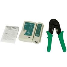 Network LAN Cable Tester RJ45 RJ11 RJ12 Cat5 and Crimper for Laptop/Computer FR