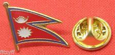 Nepal Pays Revers Drapeau Bonnet Tie Épinglette Loktāntrik Ganatantra Asie