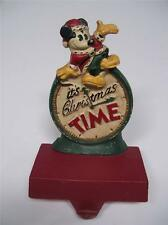 MIDWEST Cast Iron Disney  IT'S CHRISTMAS TIME  MICKEY STOCKING HOLDER Hanger #B