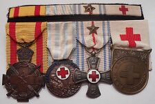 Greece,Greek and France Antique RED CROSS  MEDALS.