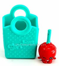 Shopkins Season 3 Super Shopper Pack Exclusive Teal Green Red Candy Apple w/ Bag