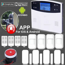 LCD DISPLAY WIRELESS GSM AUTODIAL SMS HOME HOUSE SECURITY BURGLAR INTRUDER ALARM