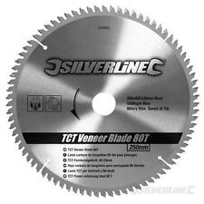 250mm TCT Veneer Blade 80T Circular Saw Sawing Wood Cutting Chipboard Concrete