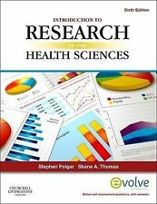 Introduction to Research in the Health Sciences by Stephen Polgar, Shane A....