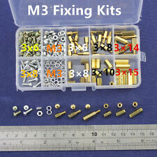 M3 Brass Spacer Standoff Screw Nut Male Female PCB Board Screw Assortment Kit