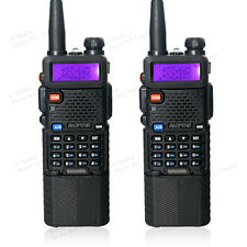 2 PCS BaoFeng UV-5R Dual UHF/VHF Radio Transceiver + 3800mah Battery walkie