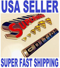 100% SUPERMAN FAMILY EDITION emblem JEEP car TRUCK boat LOGO decal SIGN *NEW* 1.