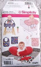 4225 SEWING PATTERN~UNCUT~BABY/INFANT:SHOPPING CART&HIGHCHAIR SEAT COVER&DOLL+++