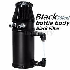 0.5L Black Car Racing Engine Oil Catch Tank Can Reservoir Breather Filter Alloy