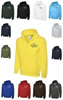 Custom Embroidered Uneek Zip up Hoodie Text UC504 Personalised Logo or Text
