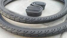 26x1.75 Slick Black Light Weight Tires & Tubes Mountain City Cruiser Lowrider*