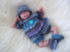 "Dolls Knitting Pattern 3 TO KNIT Romper Set for 8"" & 10"" Reborn Berenguer OOAK"