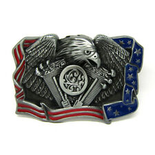 American Spread Eagle USA Engine Motorcycle Biker Belt Buckle Mens Cowboy New