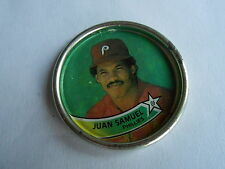 Vintage 1989 Topps Baseball Cards Philadelphis Phillies Juan Samuel Token Coin