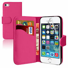 PINK Wallets leather phone Case with Card Slots for Apple iPhone 4/4S UK SELLER