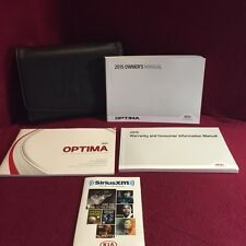 2015 Kia Optima Owners Manual with warranty books, feature guide and case