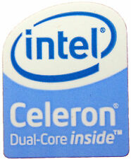 INTEL CELERON DUAL CORE STICKER LOGO AUFKLEBER 16x20mm (316)