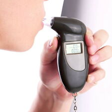 Digital Alcohol Breath Tester Breathalyzer Analyzer Detector Test Keychain FT