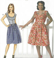 Fifties 50s style dress sewing pattern, Butterick B6322 sizes  -22 retro vintage