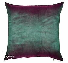 16'' Cushion Cover Dupion Silk Pillow Toss Sofa Throw Ethnic Decorative Indian
