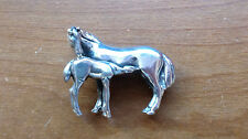 925 Sterling Silver  Horse Mare Foal Colt Pin/BROOCH OR PENDANT