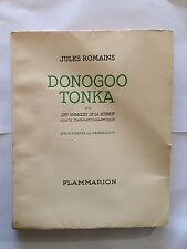 DONOGOO TONKA  MIRACLES SCIENCE CONTE CINEMATOGRAPHIQUE 1932 ROMAINS EAUX FORTES