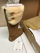 UGG Over the Knee Bailey Button Boot - SIZE 7 - Chestnut *New In Box!!