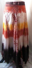 Women's Baba Skirt Tie Dye Modest Hippie Gypsy Boho Bohemian Long Cotton Large