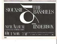 SIOUXSIE and Banshees Tinderbox  UK magazine ADVERT / mini Poster 8x6 inches