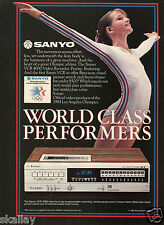 1982 Print Ad Sanyo VCR 4000 Video Recorder Official Products of 1984 Olympics