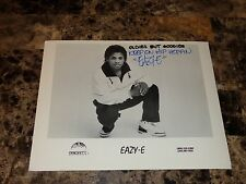 Eazy-E Rare Authentic Hand Signed Promo Press Photo NWA N.W.A. Rap Hip Hop REAL