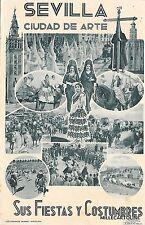 SPAIN - Sevilla - Ciudad de arte - Sus Fiestas y Costumbres 1937