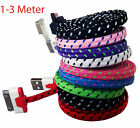 USB Sync Data Flat Charger Cable cord lead for iPhone 4s 4 ipad ipod 2 3 3G nod