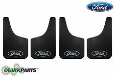 2005-2017 Ford F-150 Flat Mud Flaps Black Splash Guards Kit For Front and Rear