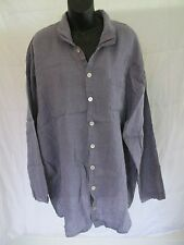 FLAX Brand Clothing Blue Shirt Top Blouse Size Large (L)