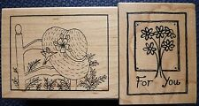 Great Impressions Rubber Stamps, For You Flowers & Spring Hat Frame, E381, F444