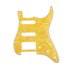 1 HSS 3Ply Electric Guitar Pickguard Yellow Pearl for Fender Strat Stratocaster