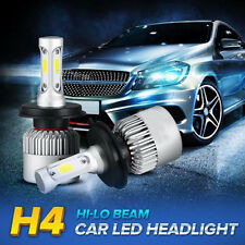 2006 H4 9003 HB2 LED Headlight Conversion Kit 80W COB 6500K White Light Bulb